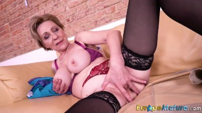- EuropeMaturE Solo Masturbation Milena Fingering/><br/>                         <span class=